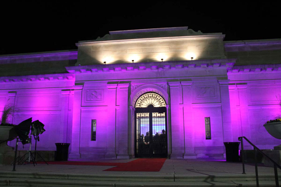 Entrance to the Celebrate Achievement Benefit Gala at The Heckscher Museum of Art honoring Barbara Ernst Prey