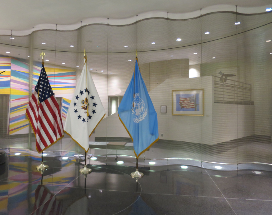 """Gallantly Streaming"" on exhibit in the Lobby of the United States Mission to the United Nations"