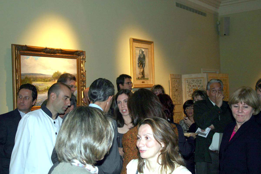 Reception for Barbara's lecture and the opening of the art collection in Madrid at the U.S. Embassy Residence