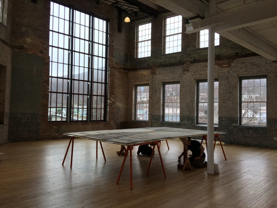 Framing process at MASS MoCA