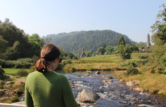 Barbara Prey painting at Glendalough