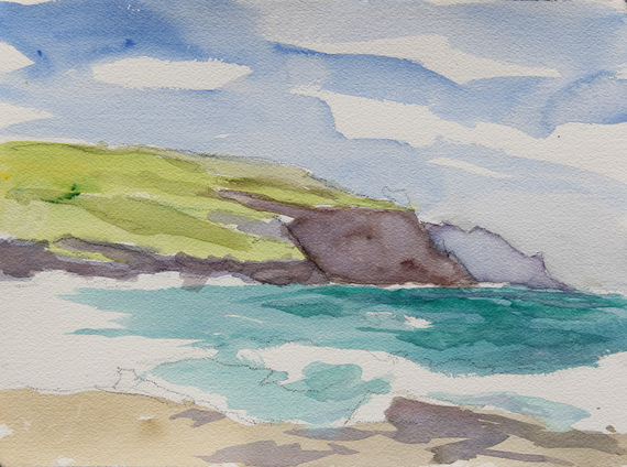 """Cliffs of Moher, watercolor on paper 9"""" x 12"""""""