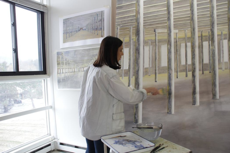 Barbara Prey in her studio